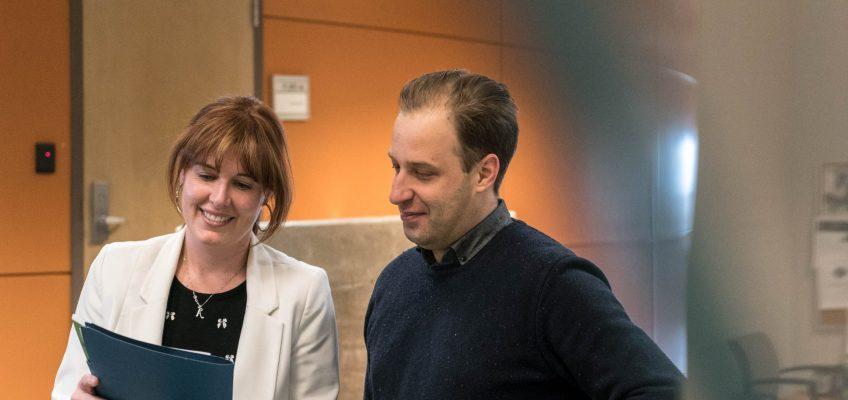 Anne-Marie Gagné accueille Mathieu Dupuis, professeur de l'École des sciences de l'adminstration au sein du SPPTU