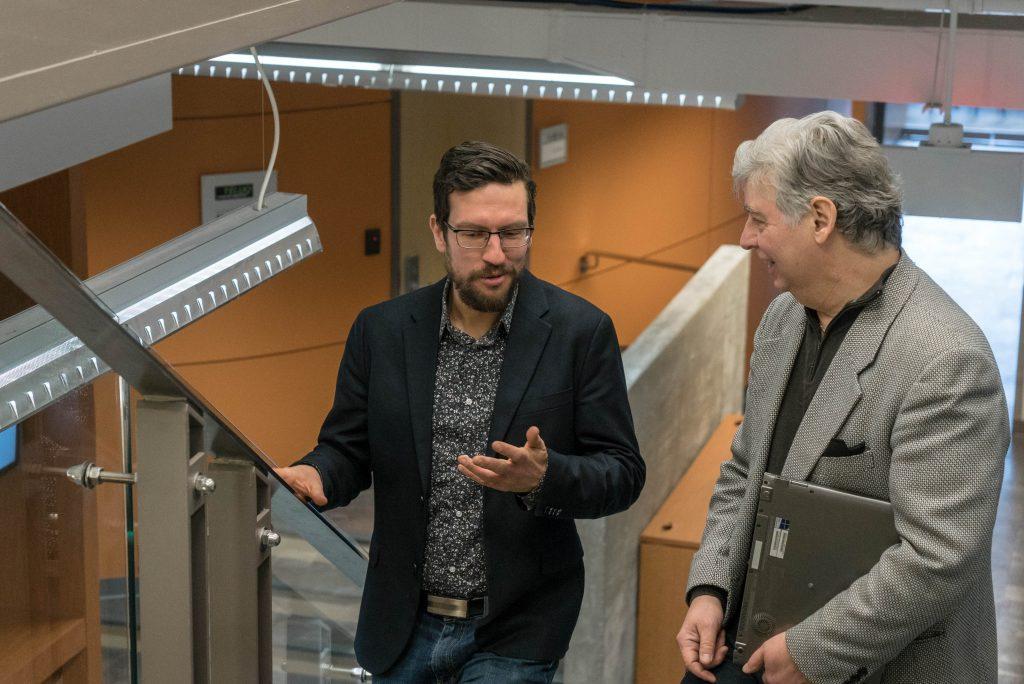 Discussion entre Mathieu Chapuit et Jean_Gagne, professeurs de la TÉLUQ et membres du SPPTU